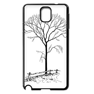 HOT sale,black cartoon tree pattern for black plastic Samsung Galaxy Note 3 case