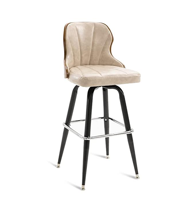 Amazon.com: Iron Bar Chairs Vintage Counter Chair High Back Bar ...