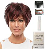 Bundle - 5 items: Mariska Wig by Jon Renau, Christy's Wigs Q & A Booklet, 2oz Travel Size Wig Shampoo, Wig Cap & Wide Tooth Comb - Color: FS613/24B