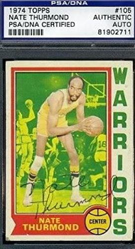 NATE THURMOND SIGNED 1974 TOPPS PSA/DNA CERTED AUTOGRAPH AUTHENTIC by KHW HALL OF FAME GALLERY