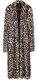 Search : Women's Sexy Elegant Vintage Leopard Print Lapel Faux Fur Long Maxi Pea Coat Jacket
