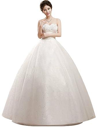edc0244582fd Eyekepper Strapless Ruched Waist Floor Length Wedding Dress Custom Size