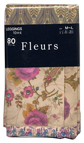 安心ファイナンス溶接(フルール) fleurs 80Dプリントレギンス ケリア