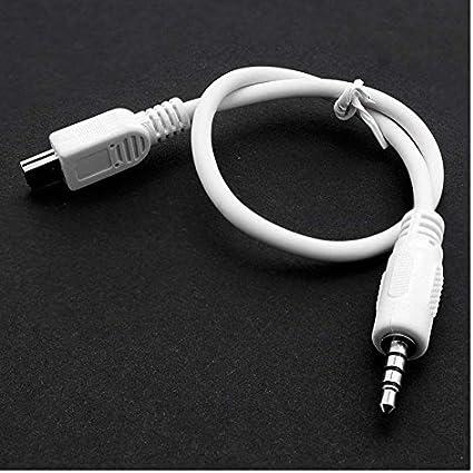 chaussure mode où puis je acheter Distinct® 1 PC haute qualité Mini USB vers Audio 3,5 mm Jack Adaptateur  convertisseur câble blanc