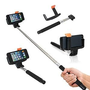 Ordel Brazo Extensible Mando a Distancia Bluetooth con Montura para smartphones Apple iPhone 4 5 6 Android Samsung s3 s4 s5