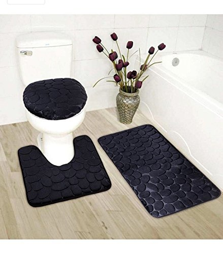Top 10 recommendation bath mat black and silver for 2019