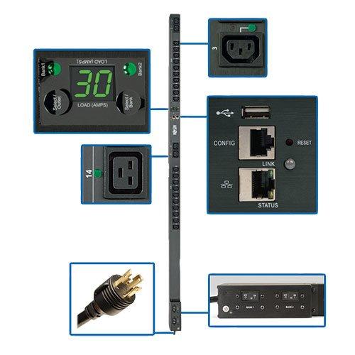 Tripp Lite PDU Switched 208V / 240V 5/5.8kW 30A 4 C19; 20 C13 LX Platform Interface 0URM TAA  (PDUMVR30HVNETLX)