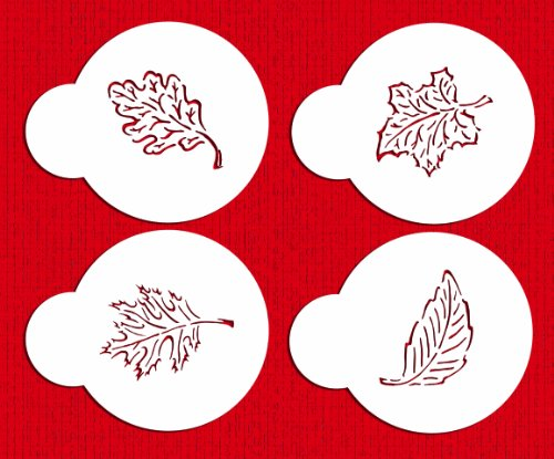 Designer Stencils C274 Fall Leaves Cookie Stencils, Beige/semi-transparent