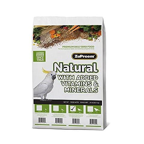 ZuPreem Natural Premium Daily Bird Food for Medium/Large Birds (Parrot) - 20 lbs.