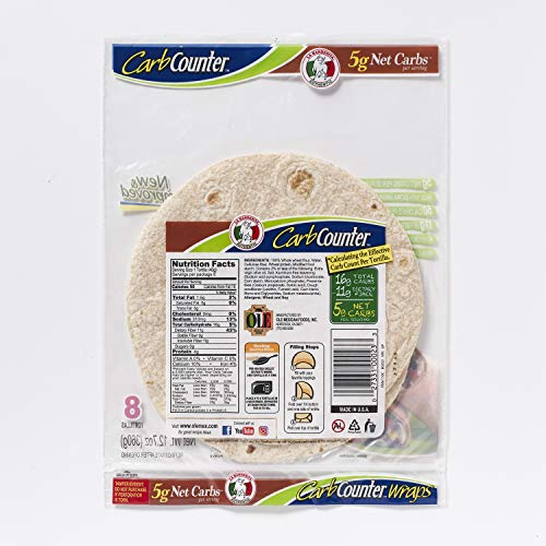 La Banderita Carb Counter / Whole Wheat Flour Tortillas | 8 Size | 8 Count Each Pack | 4 Pack Case // Taste the tradition.