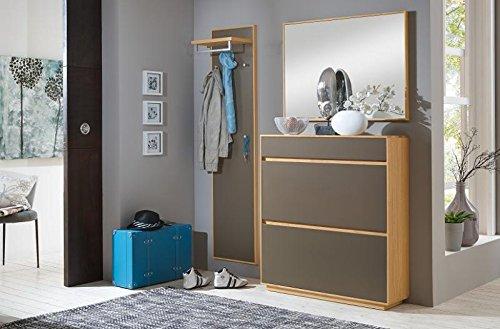 Voss-Möbel Dielenprogramm V100 Set 6, ca. 155cm in der Farbe Lack basalt