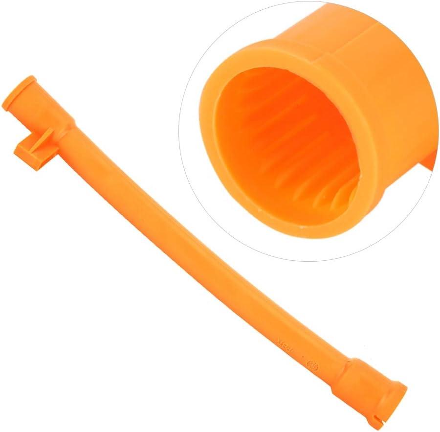 Qii lu Oil Dipstick Tube Oil Dipstick Funnel Sleeve Tube
