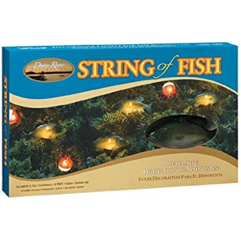 Keystone products string of fish christmas for Fish string lights