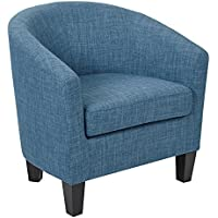 Work Smart/Ave Six Ethan Tub Chair, Blue Denim