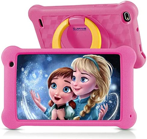 Surfans Kids Tablet, 7 inch FHD IPS Display, 2GB RAM, 32GB ROM, WiFi Android Tablets for Kids with Kids-Proof Case, Pink