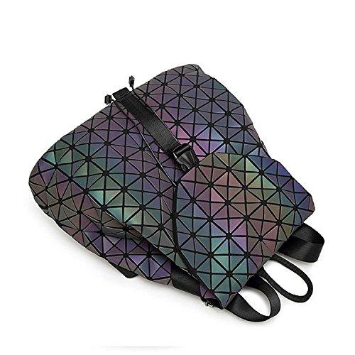 DIOMO Geometric Lingge Women Backpack Luminous Flash Mens Travel ... 7ed93bee00