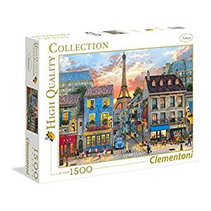 Clementoni 31679 High Quality Collection Puzzle Streets Of Paris 1500 Pezzi