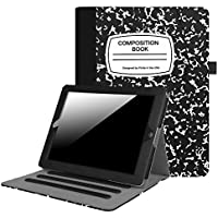 Fintie iPad 2/3/4 Case [Corner Protection] - [Multi-Angle Viewing] Folio Stand Smart Cover with Card Pocket, Auto Sleep / Wake for Apple iPad 2, iPad 3 & iPad 4th Gen Retina Display, Composition Book