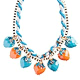 Modern Fashion Crystal Rhinestone Vibrant Heart Shape Necklace Set N75 Blue