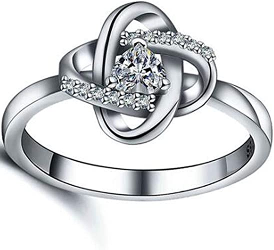Jude Jewelers Stainless Steel Heart Shaped Solitaire Wedding Engagement Propose Ring