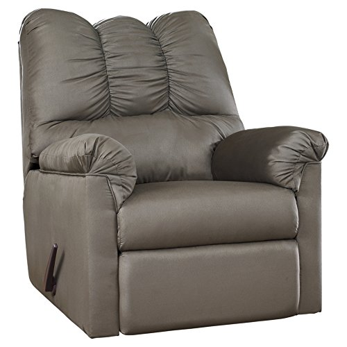 Recliner Signature Rocker (Ashley Furniture Signature Design - Darcy Contemporary Microfiber Rocker Recliner - Manual Reclining - Cobblestone)