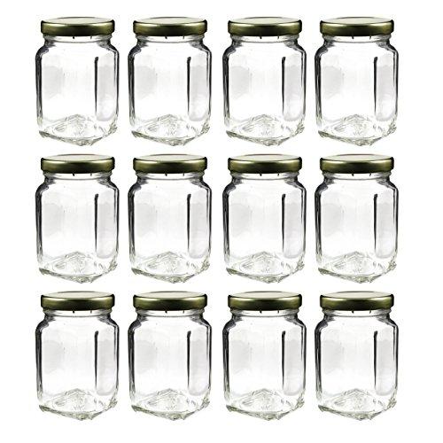 12 Pack of 6oz Square Victorian Jars, Bulk Value P big image