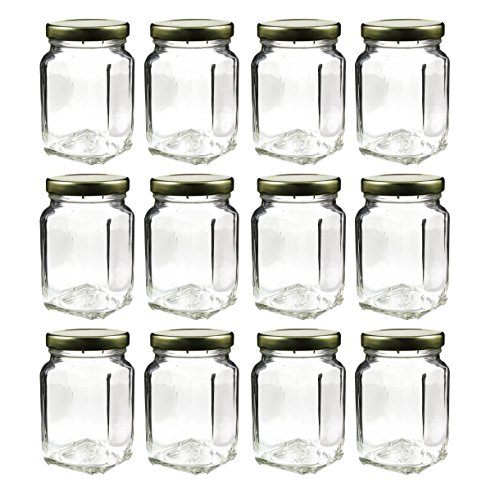 Cornucopia Brands 6 Ounce Square Victorian Jars (12 Pack), Bulk Value Pack  Of Square Glass Jars With Screw On Lids, Ideal For Spice Storage, ...