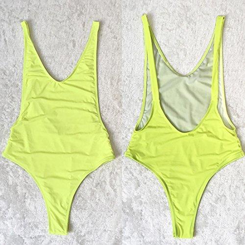 para mujer de fluorescente verde Traje 1 delgado Ai Sexy o pieza adelgazante ba moichien wZXHxxUqf