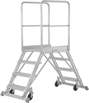 Base Hymer escalera móvil, accesible por ambos lados, base tamaño 600 x 800 mm, 2 x 4 niveles, alto 0,95 m, peso 40 kg: Amazon.es: Bricolaje y herramientas
