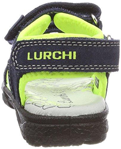 Lurchi Kreon, Sandalias Para Niños Blau (Navy Neon Yellow)