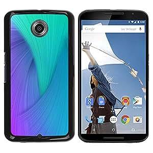 Caucho caso de Shell duro de la cubierta de accesorios de protección BY RAYDREAMMM - Motorola NEXUS 6 / X / Moto X Pro - Swirl Blue Purple Teal Colorful Peacock