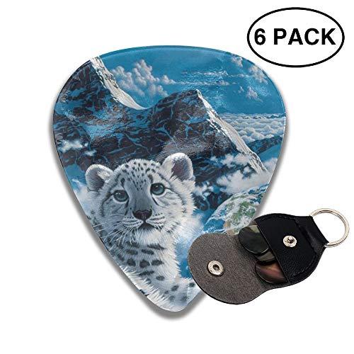 JTBP6-id Guitar Picks Majestic White Tiger 351 Shape Guitar Plectrums for Bass Electric Guitar Acoustic Guitar,6 Packs