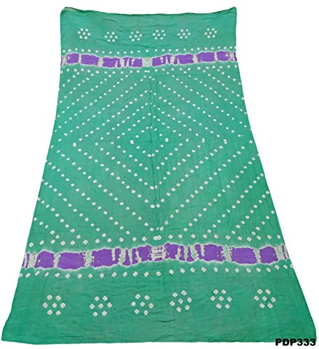 Sea Green Cotton Kameez (Indian Women Bandhani Dupatta Bollywood Ethnic Traditional New Stole)
