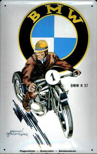 Amazoncom BMW Motorrad R Nostalgic D Embossed Domed Strong - Bmw motorcycle tin signs