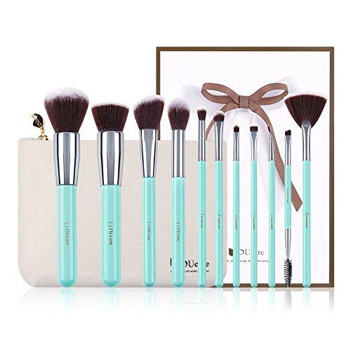 DUcare Makeup Brush Set 11pcs Professional Synthetic Face EyeShadow Foundation Make Up Brushes with Case