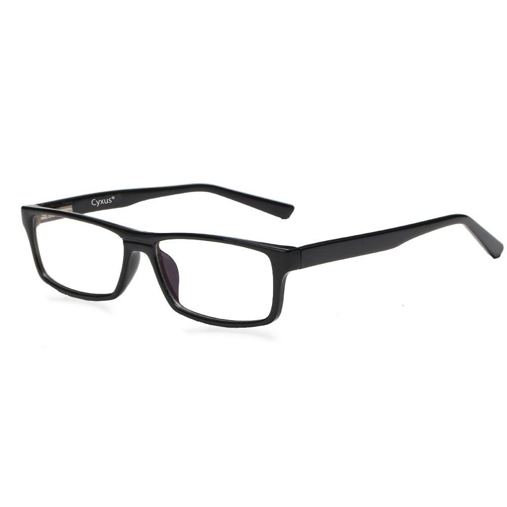 Cyxus Blue Light Filter (Flexible Spring Inside) Computer Glasses, UV Blocking [Anti-Eyestrain] Rectangular Reading Eyewears