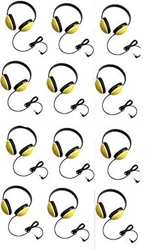 - Califone 2800-YL Listening First Headphones in Yellow (Set of 12)