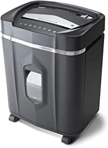 Aurora AU1640XA Anti-Jam 16 Sheet Crosscut Paper/CD and Credit Card/ 5 Gal Pullout Basket Shredder, 30 Minutes Continuous Run Time