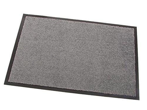 Schmutzfangmatte CANDY - Grau - 1,20m x 1,80m   5 Größen   100% Polypropylen   2.710g m²   Sauberlaufmatte   Türmatte   Fußmatte   Schmutzfangläufer   Sauberlaufteppich