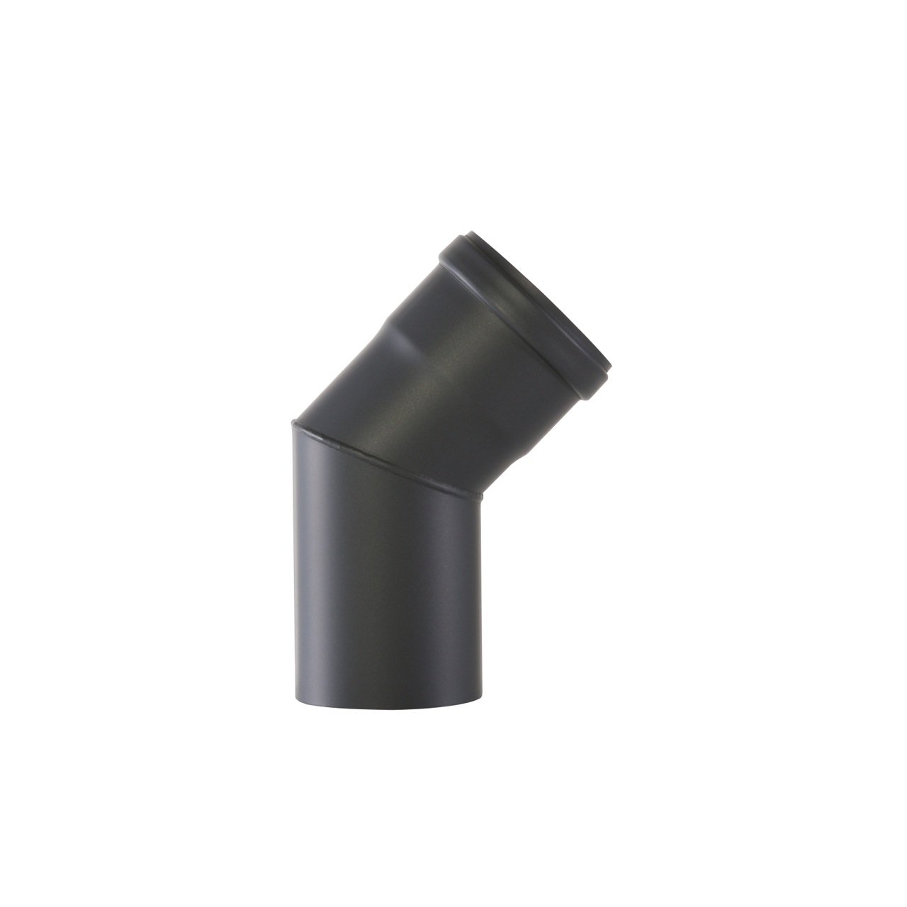 Kamino-Flam 45° Elbow Pipe Ø 80 mm, Steel Elbow Pipe Suitable for Pellet Stoves, Senotherm Coated Elbow Chimney Pipe, Heat Resistant Flue Elbow with Silicone Seal, EN 1856-2 Standard, Black Kamino - Flam 122683