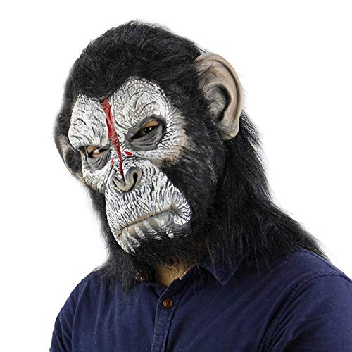 Funny Costume Party Monkey Props,Halloween Gorilla Mask(Dreadful Apeface