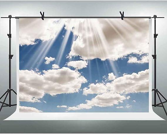 Fhzon Fotohintergrund Blauer Himmel Weiße Wolken Kamera