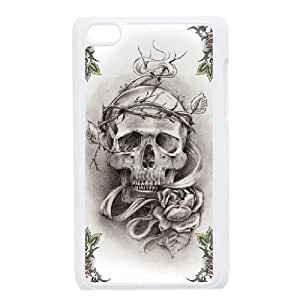 ANCASE Phone Case Skull,Customized Case For Ipod Touch 4