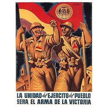 Wee Blue Coo War Propaganda Spanish Civil International Brigade Republican Spain Unframed Wall Art Print Poster Home Decor Premium