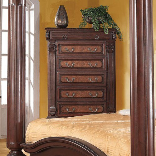 Coaster Home Furnishings Grand Prado 5-Drawer Tall Chest Cappuccino