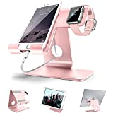 ZVE  Universal Aluminium Desktop Cell Phone Stand for Smartphone and Tablets - Rose gold stand