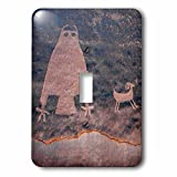 3dRose Danita Delimont - Artwork - Usa, Utah, Owl Panel with big horn sheep, ancient petroglyph - Light Switch Covers - single toggle switch (lsp_260266_1)