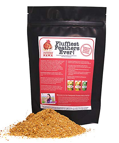Backyard Chicken Supplement Treat: Fluffiest Feathers Ever Backyard Chicken Feed and Supplies for Healthy Hens (6 Pound Economy Size) from Pampered Chicken Mama