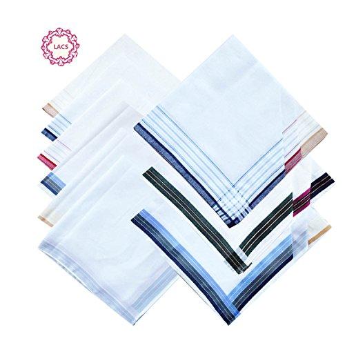 3 STyles of Mens Fashion New Cotton Handkerchiefs Mix Pack by La closure