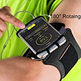 VUP Running Armband for iPhone X/8 Plus/8/7 Plus/7/6S Plus/6S/6/5S/SE,180 Rotatable Sports Workout Cell Phone Holder for SAMSUNG Galaxy S8/S7 Edge/S6, Google Pixel/Nexus 6P, LG and More